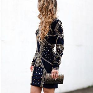 Rachel Allan Dress with jewel detailing